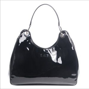 Killer Gucci Black Vinyl Hobo!